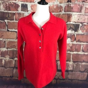 VTG Lord & Taylor Red Wool/ Angoria Sweater S